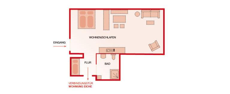 Grundriss - Apartment Kastanie