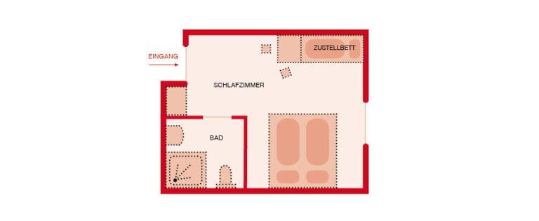 Grundriss - Gästezimmer