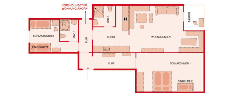 Grundriss - Wohnung Birke