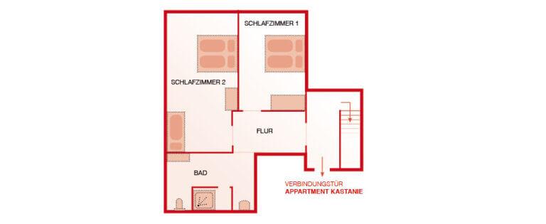 Grundriss OG - Wohnung Eiche