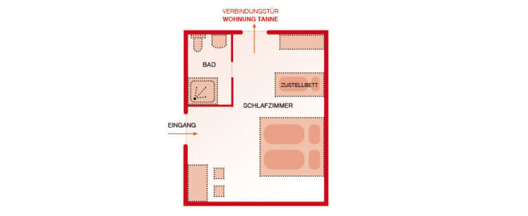Grundriss - Zimmer Walnuss